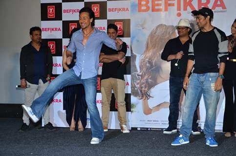 Tiger Shroff along with Disha Patani performs at the Music Launch of the film 'Befikre'