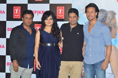 Kumaar, singer Aditi Singh Sharma, Bhushan Kumar, actor at Music Launch of the film 'Befikre'