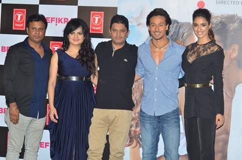 Aditi Singh Sharma, filmmaker Bhushan Kumar, actors Tiger Shroff at of the film 'Befikre'