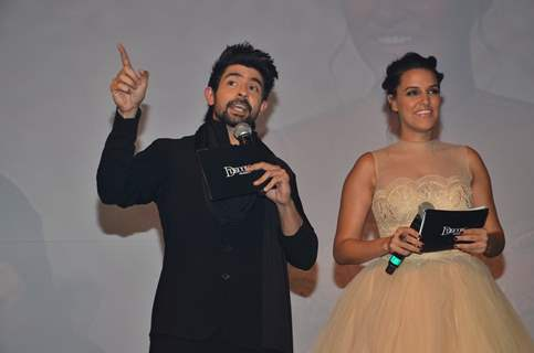 Hussain Kuwajerwala and Neha Dhupia at D'Decor Event