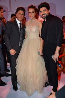 Shah Rukh Khan, Neha Dhupia and Hussain Kuwajerwala at D'Decor Event