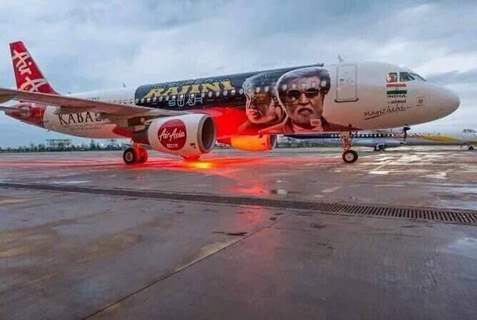 Kabali's unique style of promotion- Air Aisa promotes 'Kabali'