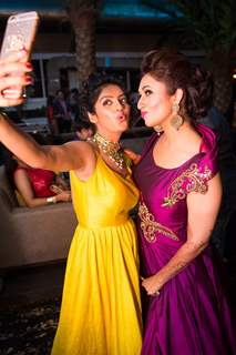 Selfie is must! Deepika Singh and Divyanka Tripathi at Divyanka-Vivek 's 'Happily Ever After' party