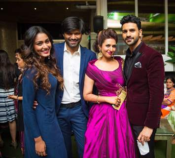 Sana Makbul and Anand Mishra at Divyanka Tripathi - Vivek Dahiya's 'Happily Ever After' Party