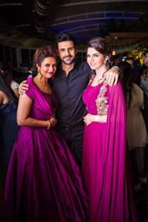 Divyanka Tripathi - Vivek Dahiya and his sister at  'Happily Ever After' Party