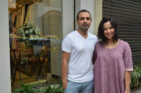 Mayank Anand and Shraddha Nigam at Unveiling of New Collection at ABU-SANDEEP's Fantastique!
