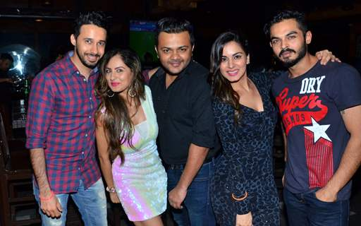 Puja Banerjee and Shraddha Arya and at birthday celebration of Kunal Verma at R- ADDA