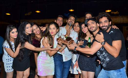 Puja Banerjee, Arjun Bijlani and Shraddha Arya at birthday celebration of Kunal Verma at R- ADDA