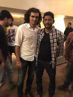 Imtiaz Ali and Nishikant Kamat at the special screening of 'Madaari'