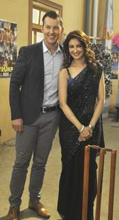 Brett Lee and Saumya Tandon promotes 'Unindian' at Bhabhi Ji Ghar Par hai