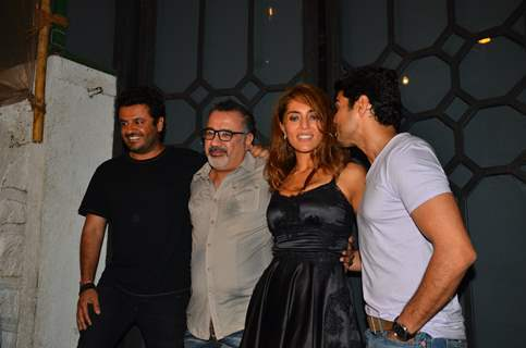 Rajeev Khandelwal, Vikas Bahl and Caterina Murino at 'Fever' Bash!