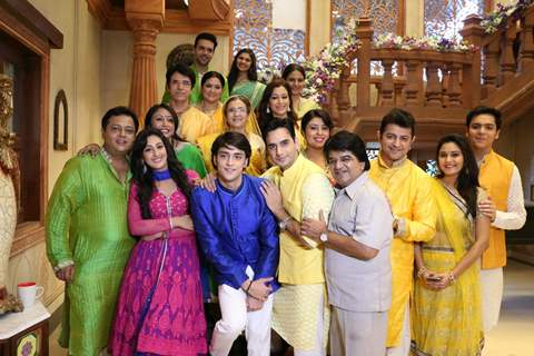 The cast of Ek Rishta Saajhedari Ka at the launch event