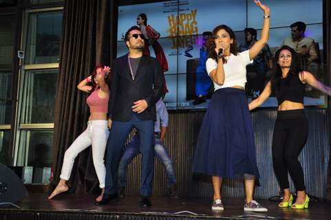 Mika Singh and Neeti Mohan at Launch of 'Happy Bhag Jayegi'
