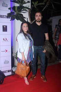 Imran Khan with his wife at Special Screening of 'Rustom' at Yashraj Studios
