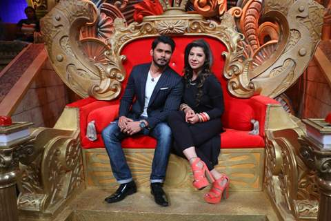 Sambhavna Seth at Colors TV Shoots for a 'Couple Special' Episode at 'Comedy Nights Bachao'