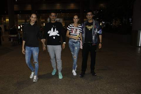 Music Composers Harmeet Singh and Manmeet Singh Snapped at Airport