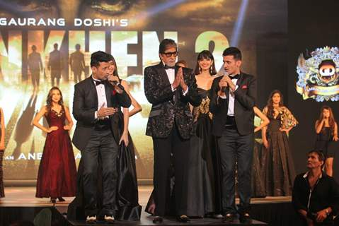 Amitabh Bachchan along with Meet Bros at Launch of Film 'Aankhen 2'