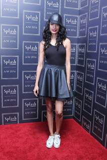 Sarah Jane Dias at the launch of Splash Fashion's AW16 collection