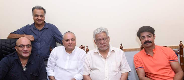 Sushant Singh, Amit Behl, Om Puri and Manoj Joshi at CINTAA Meeting