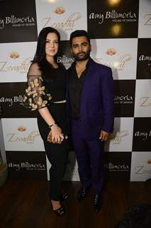 Sachin Joshi with his wife Urvashi Sharma at Launch of Amy Billimoria and Zevadhi Jewels