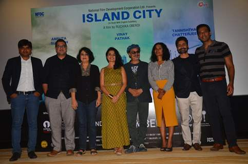 Celebs at Press meet of Island City