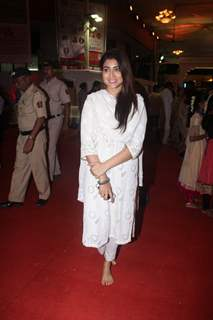 Shriya Sharan snapped at Isckon