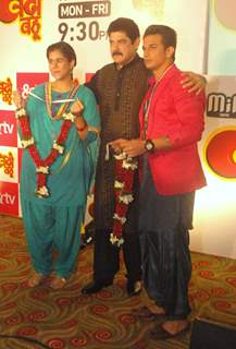 Prince Narula and Pankaj Dheer at Launch of &TV's Show 'Badho Bahu'