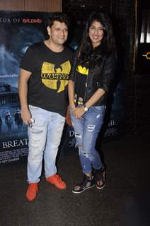 Rohit Nag and Aishwarya Sakhuja at Premiere of film 'Don't Breathe'