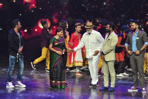 Judges at Promotion of film 'Tutak Tutak Titiya' on Dance Plus 2