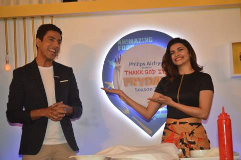 Prachi Desai at launch of Thank God It's Fryday with Ranveer Brar