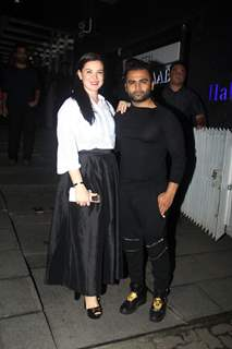 Urvashi Sharma with her husband Sachiin J Joshi snapped outside Hakkasan