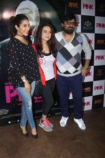 Sophie Choudry and Preity Zinta at Special screening of Film 'Pink' at Light Box