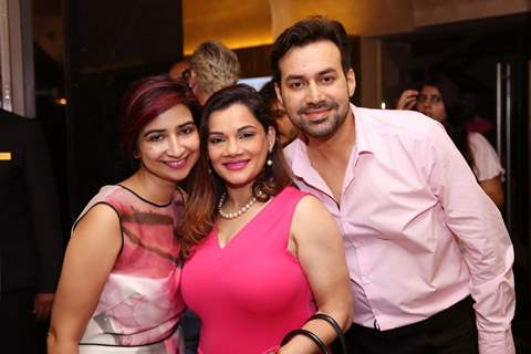 Kanika Maheshwari and her husband with Rashmi Sharma at Special screening of Film 'Pink'