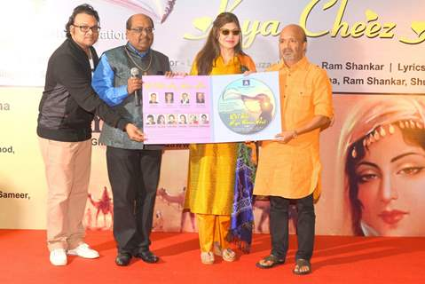 Sameer Anjaan, Ram Shankar and Alka Yagnik at Launch of Album 'Yeh Ishq Hai'
