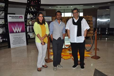Nawazuddin Siddiqui and Subhash Ghai at Whistling Woods