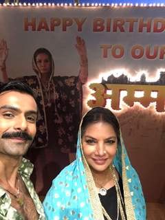 Ashmit Patel at Shabana Azmi's birthday bash on the sets of Amma