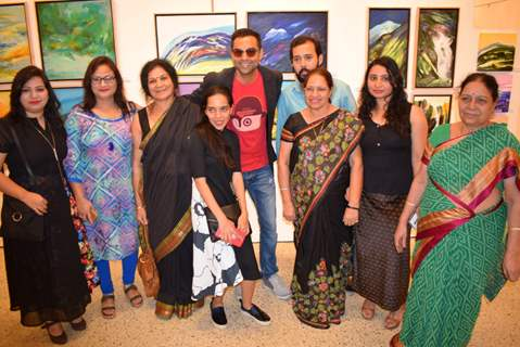 Abhay Deol at Manjual Chaturvedi's Art Exhibition