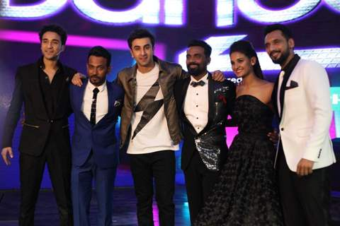 Ranbir Kapoor with the judges on the sets of The Dance Plus 2