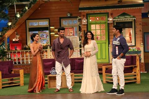 Jennifer Winget, Kushal Tandon and Aneri Vajani visit on the sets of 'The Kapil Sharma Show'
