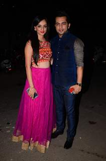 Alok Narula and Anshu Malik at Kishwer Merchant and Suyyash Rai's Sangeet Ceremony