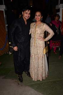 Shailesh and Ashita Gulabani at Kishwer Merchant and Suyyash Rai's Sangeet Ceremony