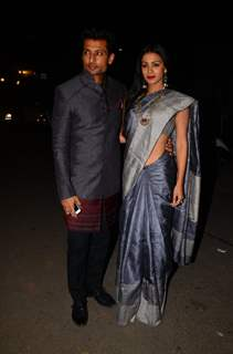 Barkha Bisht Sengupta and Indraneil Sengupta at Kishwer Merchant and Suyyash Rai's Sangeet Ceremony