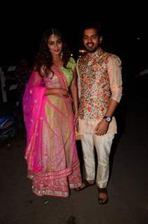 Sana Khan and Rohan Gandotra at Kishwer Merchant and Suyyash Rai's Sangeet Ceremony