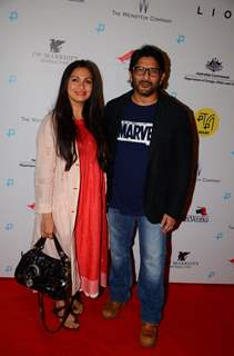 Arshad Warsi and Maria Goretti attends premiere of 'Lion'