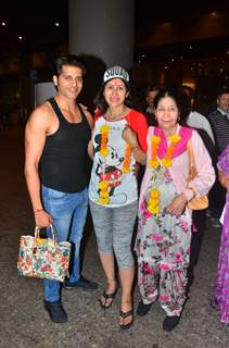 Karanvir Bohra with wife Teejay Sidhu snapped at the Airport!