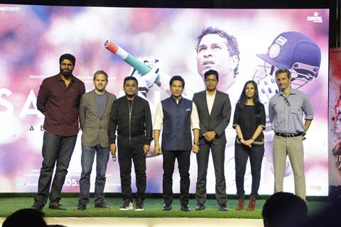 A.R. Rahman at the launch of Sachin Anthem of film 'Sachin: A Billion Dreams'