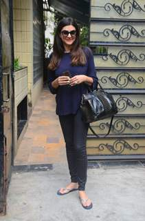 Sushmita Sen papped outside her office