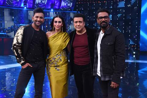 Karisma Kapoor - Govinda on the sets of Dance Champions