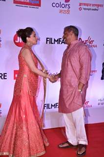 Madhuri Dixit and Nana Patekar exchange greetings