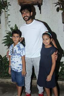Hiten Tejwani with their children spotted at Incredibles 2 screening!